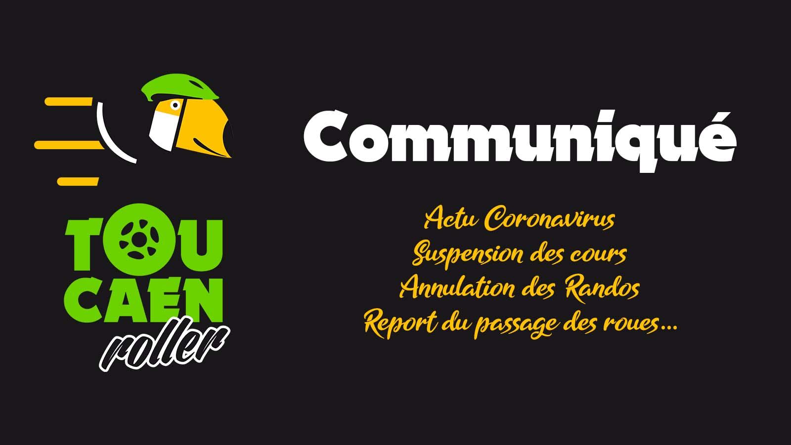 Communiqué TouCaen Roller Coronavirus